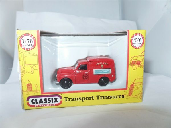 Classix EM76626 1/76 OO Scale Morris Minor 1000 Van Post Office Royal Mail Red